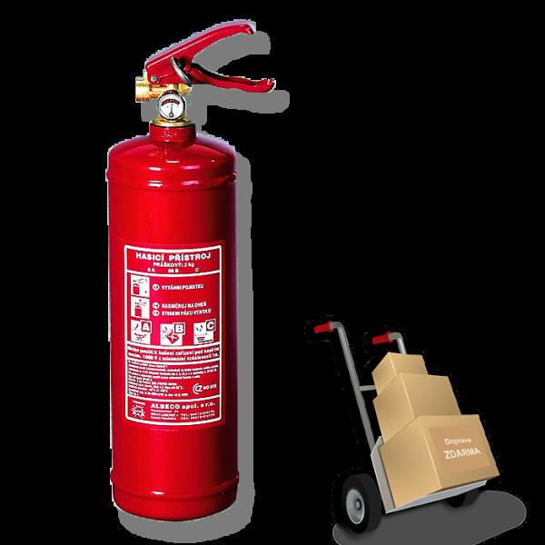 Práškový hasicí přístroj 2 kg s revizí